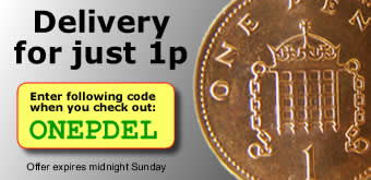 Delivery for just 1p - voucher code ONEPDEL