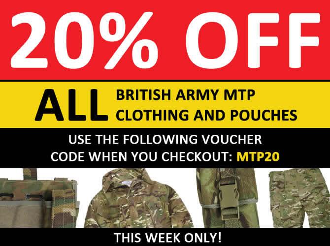 20% off British Army MTP gear