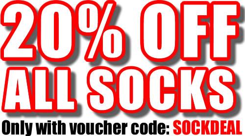 20 Percent Off All Socks