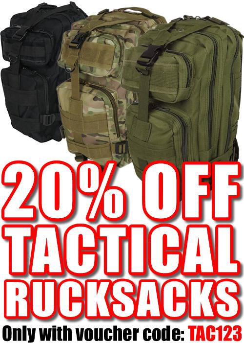 20 Percent Off Tactical Mission Rucksacks
