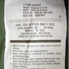 Alpha Industries M65 Jacket Label
