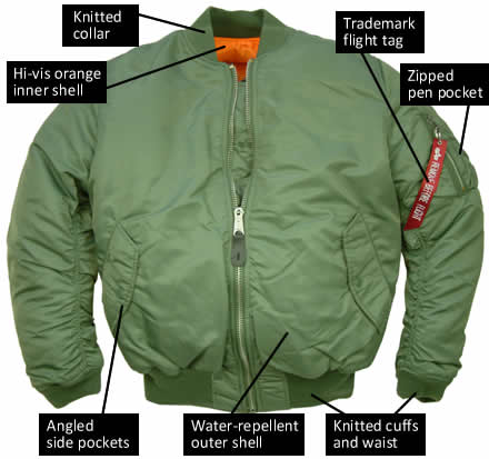 Alpha Industries MA1 Nylon Flight Jacket