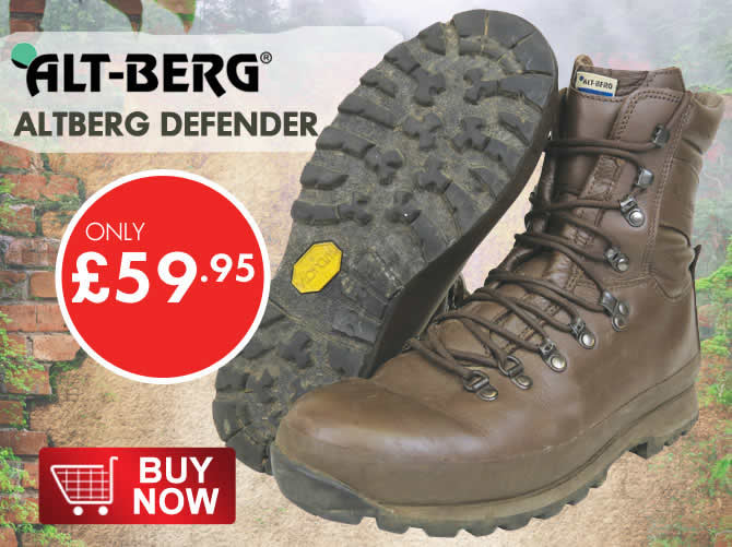 Altberg brown army boots
