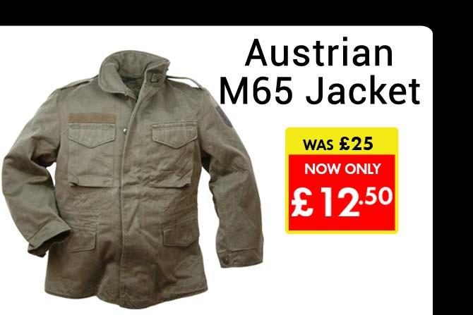 50% Off Austrian M65 Jackets