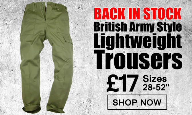 British Army Style Lightweight Trousers