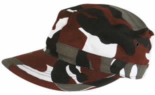 Red Camo Fatigue Cap