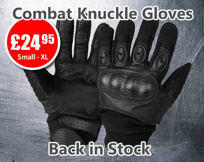 Combat Knuckle Gloves Back in Stock