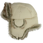 Fur and Canvas Cossack Hat