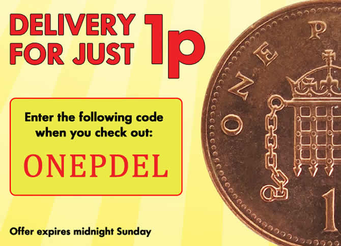 Delivery for just 1p