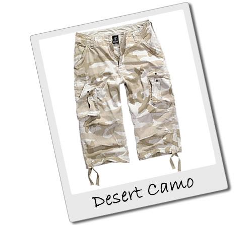 Desert Camo Three Quarter Length Shorts
