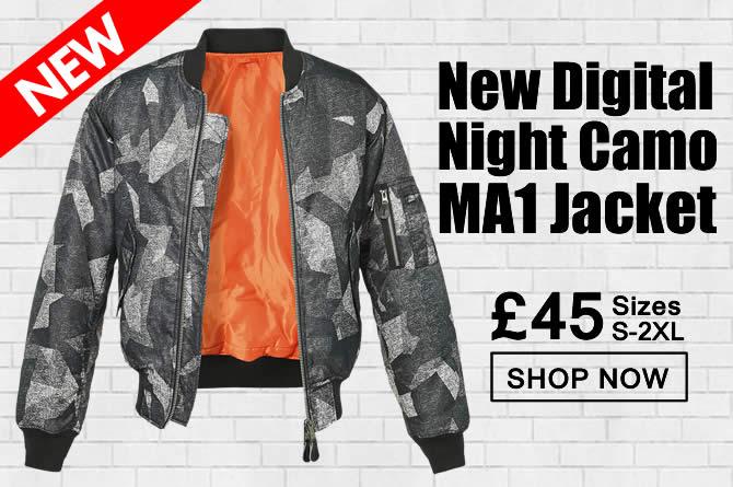 Digital Night Camo MA1 Jacket