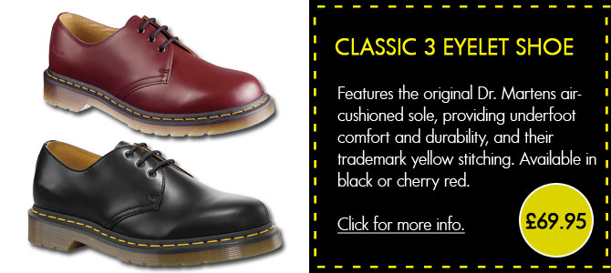 Dr Martens Classic 3 Eyelet Shoe