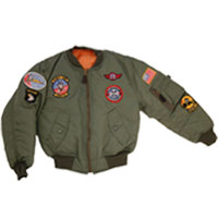 Kids Badged MA1 Flying Jacket
