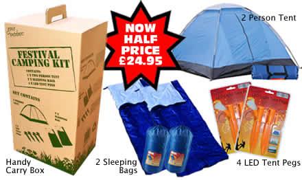 HALF PRICE Festival Camping Kit