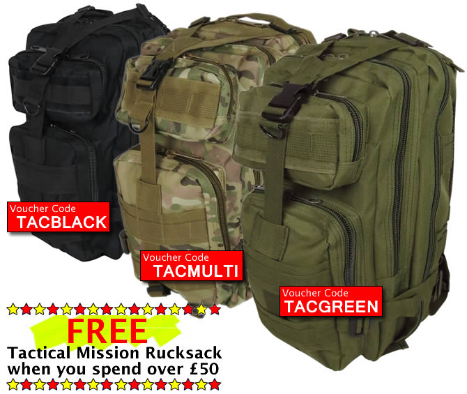 Free Tactical Mission Rucksack