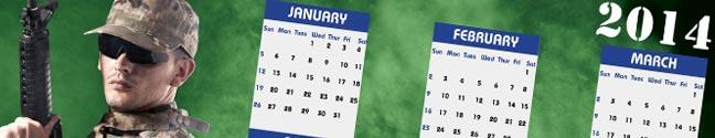 Free 2014 Military Wall Calendar