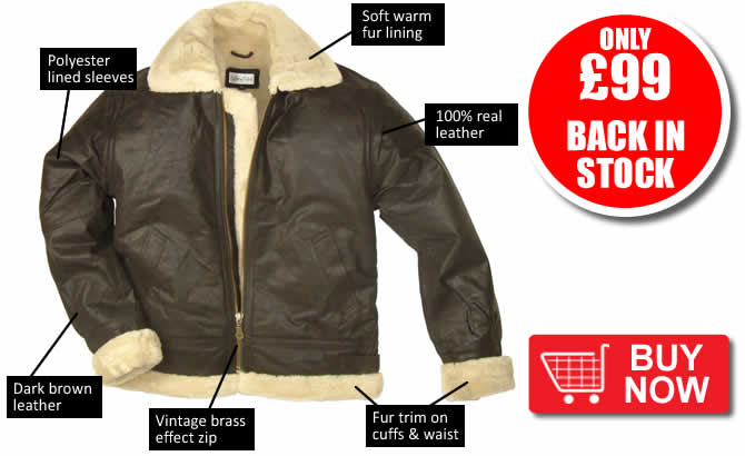Fur Lined Leather Flying Jackets Back in Stock