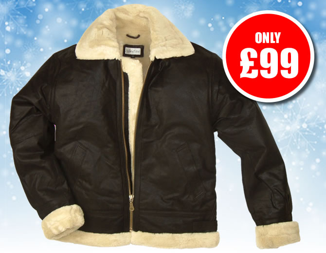 Fur Lined Leather Flying Jackets