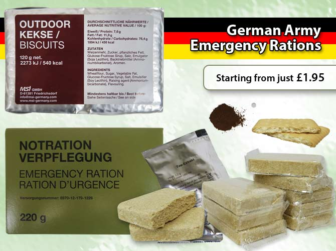Germany Army Food Rations