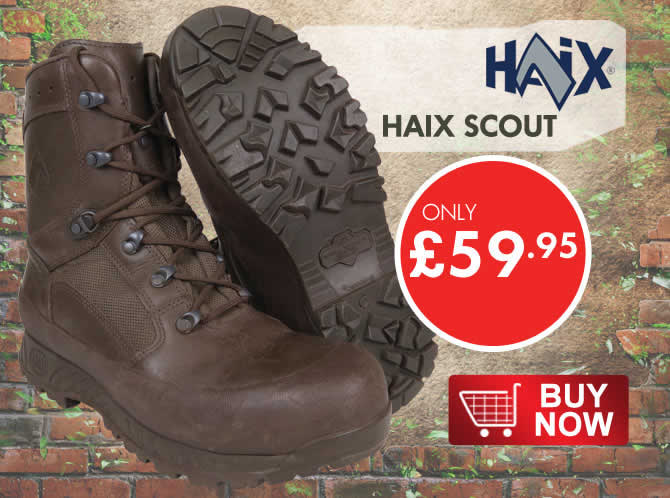 Haix brown army boots