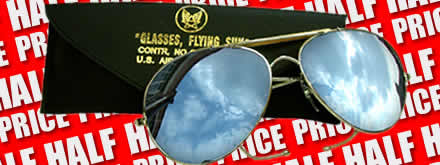 Half Price Mirrored Aviator Glasses