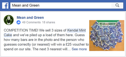 Kendal Mint Cake Competition on Facebook