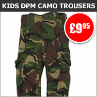 Kids DPM Camo Combat Trousers