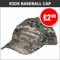Kids Multicam Baseball Cap