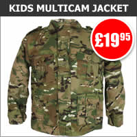 Kids Multicam Padded Jacket