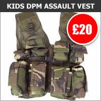 Kids DPM Camo Assault Vest