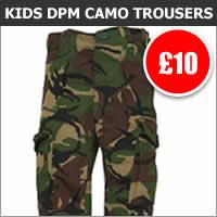 Kids DPM Camo Combat Trousers