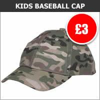 Kids Multicam Baseball Cap