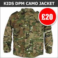 Kids Multicam Padded Jacket