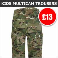 Kids Multicam Combat Trousers