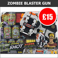 Zombie Dart and Disc Blaster Gun