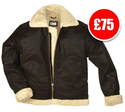 Kids Fur Lined Leather Flying Jacket