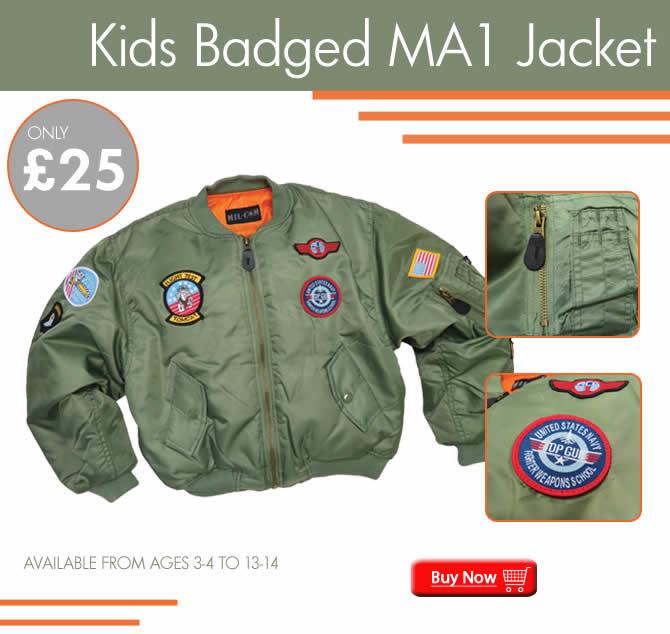 Kids Badged MA1 Jacket