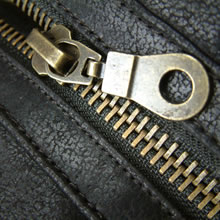 Vintage Brass Effect Zip