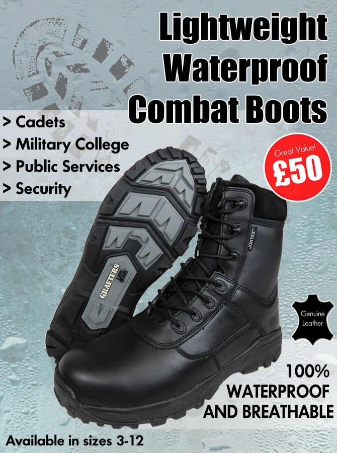 Lightweight Waterproof Combat Boots