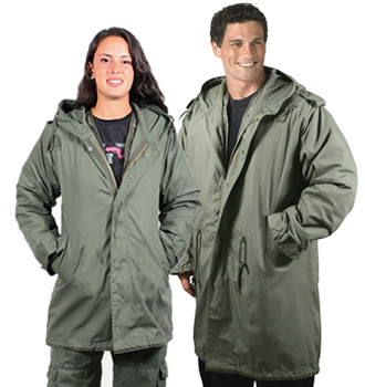 Mens and Womens M51 Fishtail Parkas