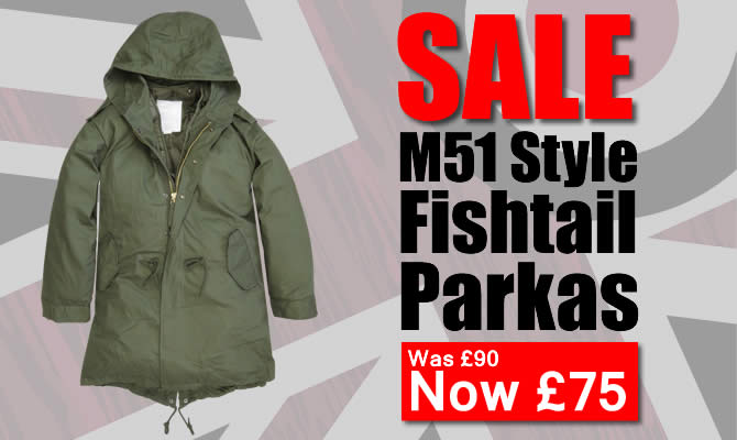 M51 Fishtail Parkas Reduced