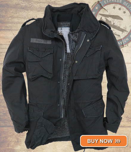 Black M65 Infantry Jacket