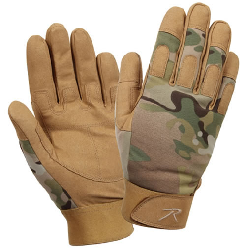 Multicam Military Gloves