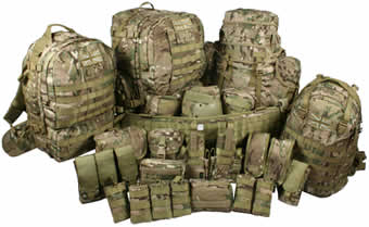MultiCam Rucksacks and Webbing