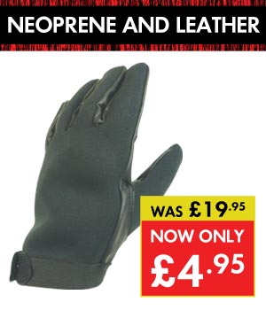 Neoprene and Leather Patrol Gloves