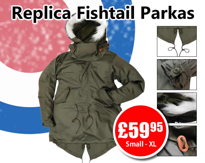 New Replica Fishtail Parkas