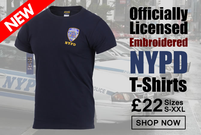 NYPD Embroidered T-Shirts