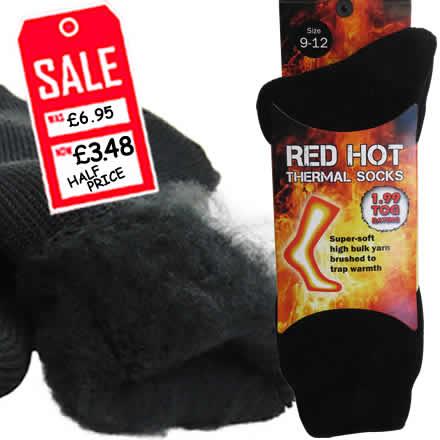 Red Hot Thermal Socks - HALF PRICE