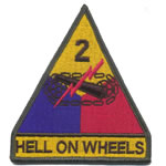 2nd Armoured Division (Hell on Wheels) Badge