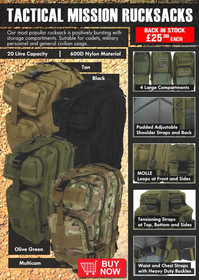 Tactical Mission Rucksacks